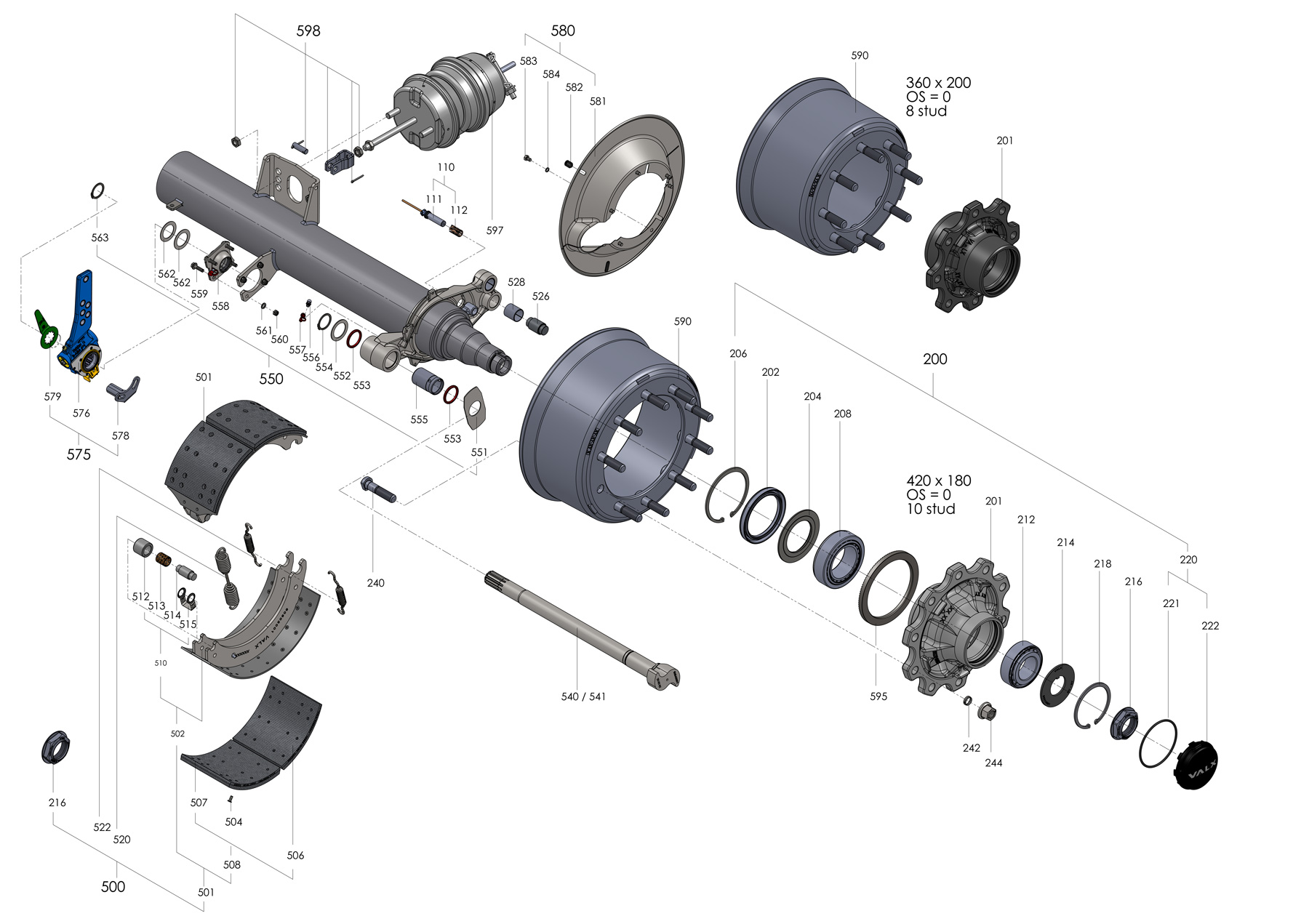 drum axle parts valx trailer axlesTrailer Axle Schematic #9