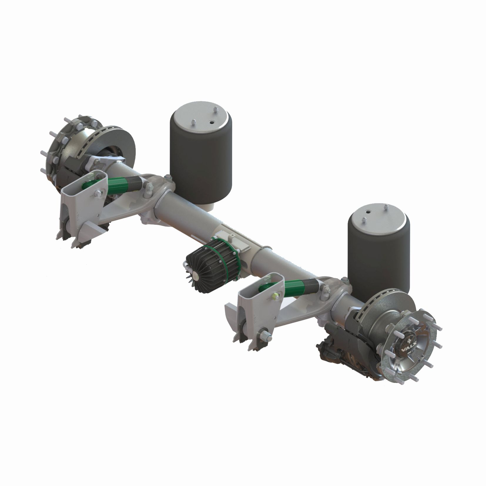 Drum brake trailer axle